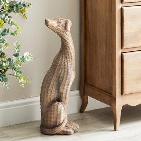 Resin Wicker Greyhound 60cm