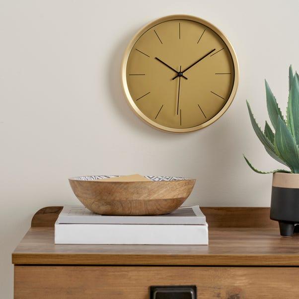 Aluminium Gold 26cm Silent Clock Gold