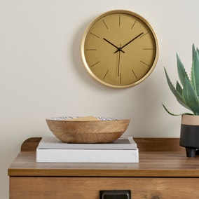 Aluminium Gold 26cm Silent Clock