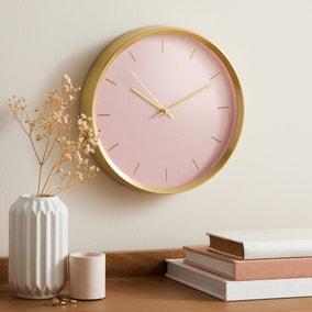 Aluminium Pink 26cm Silent Clock