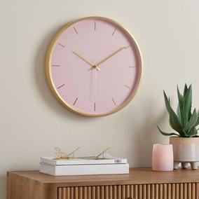 Aluminium Pink 40cm Silent Clock