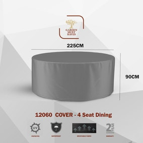 4 Seater Round Dining Set Cover