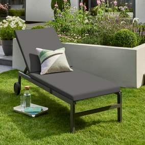 Titchwell Grey Lounger