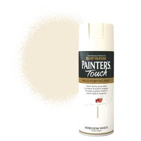 Rust-Oleum Heirloom White Satin Painter's Touch Spray Paint 400ml
