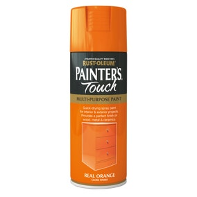 Rust-Oleum Real Orange Gloss Painter's Touch Spray Paint 400ml