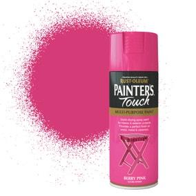 Rust-Oleum Berry Pink Gloss Painter's Touch Spray Paint 400ml