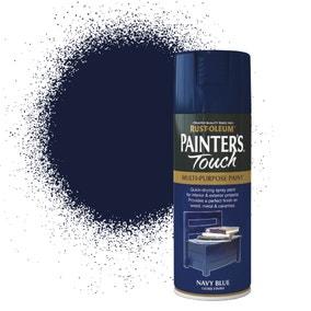 Rust-Oleum Navy Blue Gloss Painter's Touch Spray Paint 400ml