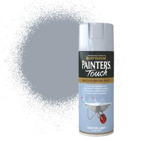 Rust-Oleum Winter Grey Gloss Painter's Touch Spray Paint 400ml