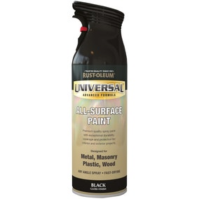 Rust-Oleum Black Gloss Universal All-Surface Spray Paint 400ml