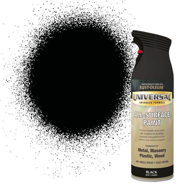 Rust-Oleum Matt Black Universal All-Surface Spray Paint 400ml