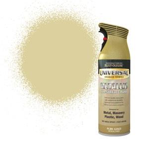 Rust-Oleum Pure Gold Universal Metallic All-Surface Spray Paint 400ml