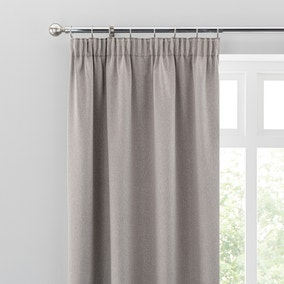 Luxe Champagne Room Darkening Pencil Pleat Curtains