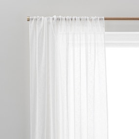 Air Purifying White Slot Top Single Voile Panel