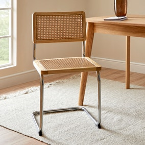 Naya Cane Canteliver Dining Chair
