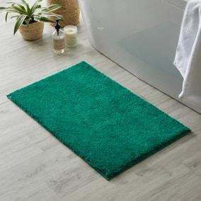 Ultimate Bottle Green 100% Cotton Anti Bacterial Bath Mat