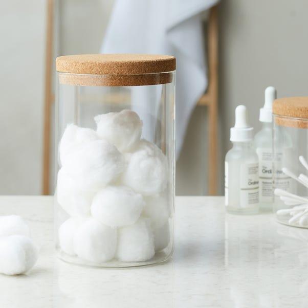 Glass Cork Jar  undefined