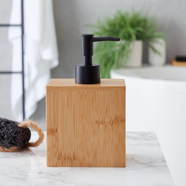 Bamboo Natural Lotion Dispenser Natural (Brown)