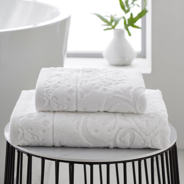 Mandalay White 100% Cotton Towel  undefined