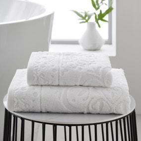 Mandalay White 100% Cotton Towel