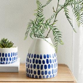 Coastal Ceramic Dots Vase