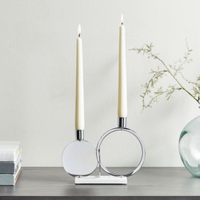 Circle Dinner Dual Candle Holder