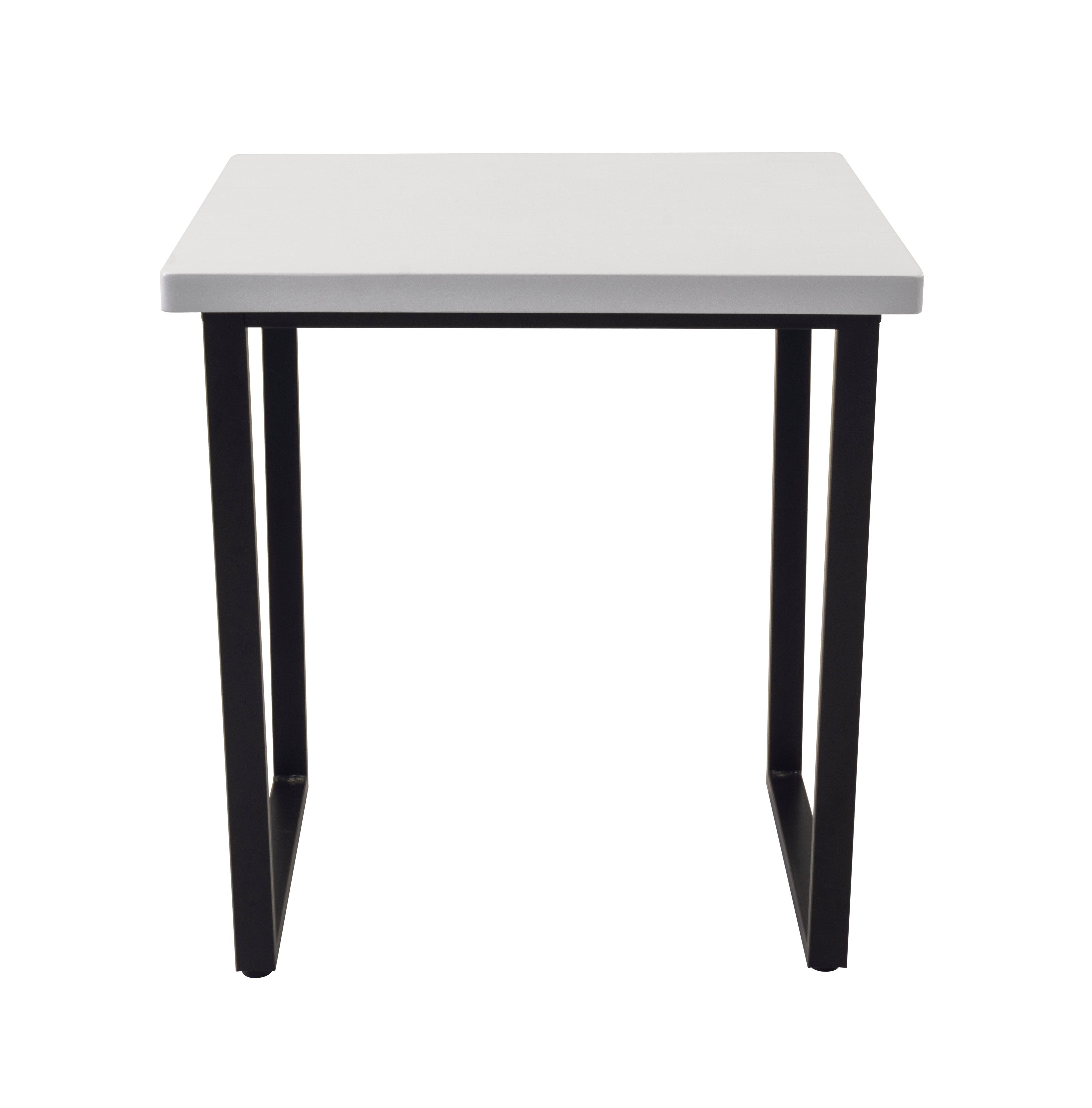 Vixen Compact Square Dining Table Black and white