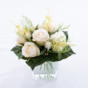Traditional Arrangement in Glass Cube