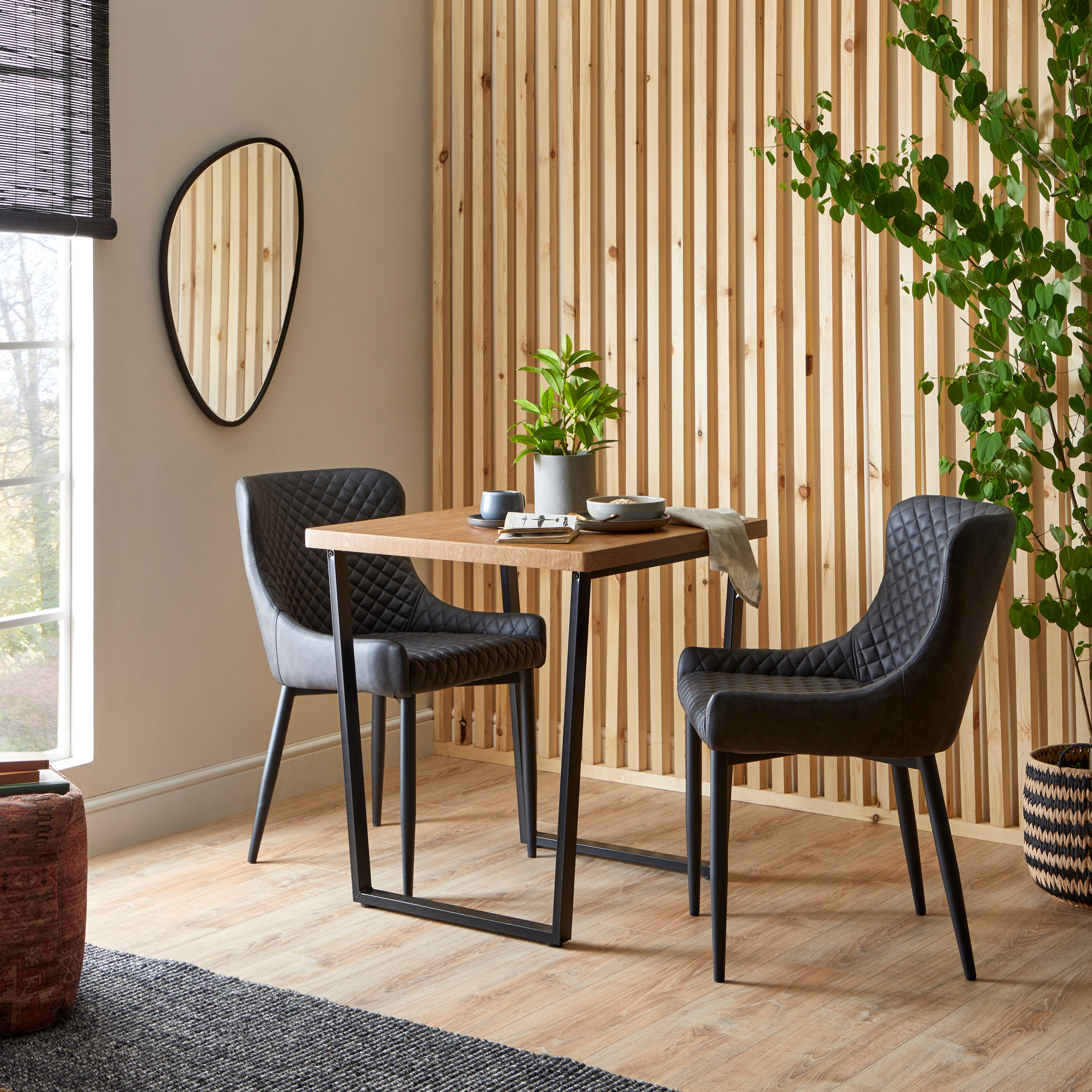 Vixen Compact Square Dining Table Oak (Brown)