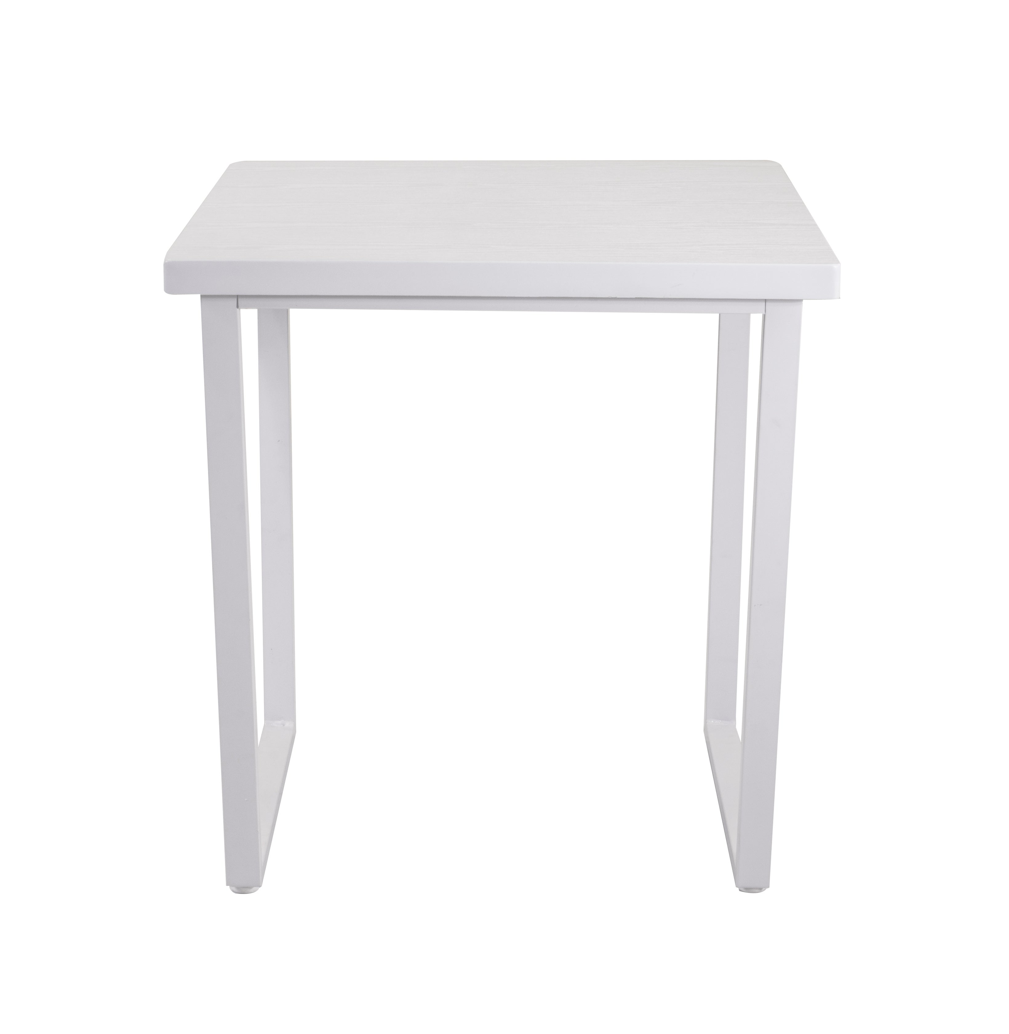Vixen Compact Square Dining Table White