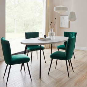 Zuri Concrete Effect Oval Dining Table