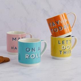 Slogan Stacking Mugs