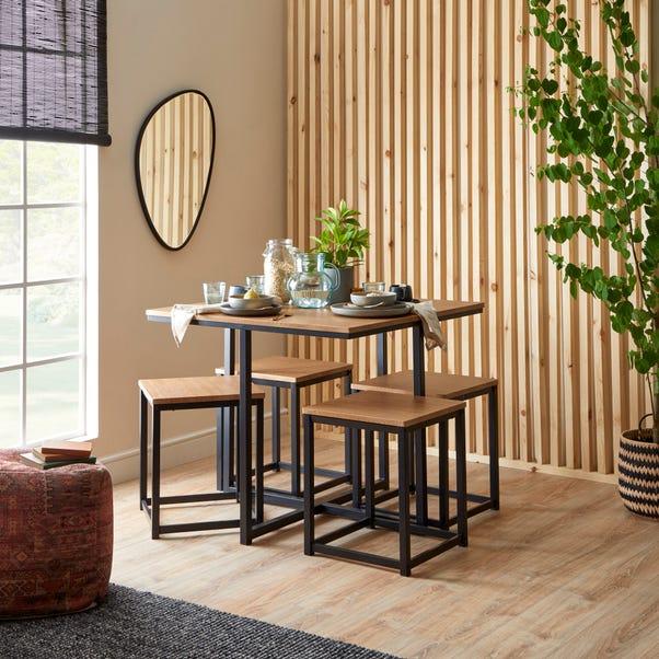 Vixen Compact Cube Dining Set Light Oak