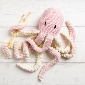 Wool Couture Robyn Octopus Baby Pink Knitting Kit