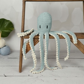 Wool Couture Robyn Octopus Teal Knitting Kit