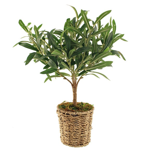 Churchgate Artificial Olive Tree in Basket Green