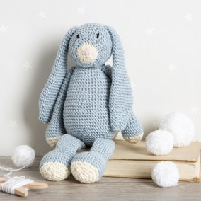 Wool Couture Mabel Bunny Baby Blue Knitting Kit