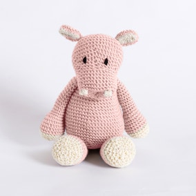 Wool Couture Andy Hippo Baby Pink Knitting Kit