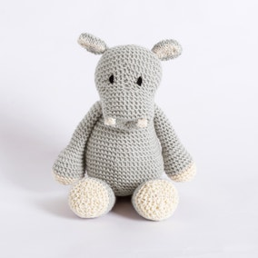 Wool Couture Andy Hippo Grey Knitting Kit
