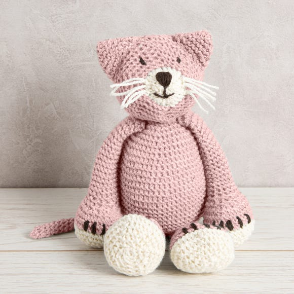 Wool Couture Chloe Cat Baby Pink Knitting Kit Baby Pink