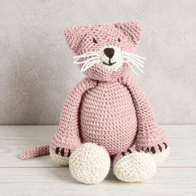 Wool Couture Chloe Cat Baby Pink Knitting Kit