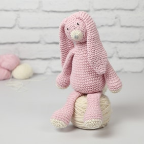 Wool Couture Mabel Bunny Baby Pink Knitting Kit