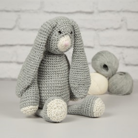 Wool Couture Mabel Bunny Grey Knitting Kit