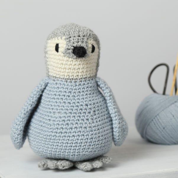 Wool Couture Poppy Penguin Crochet Kit Grey
