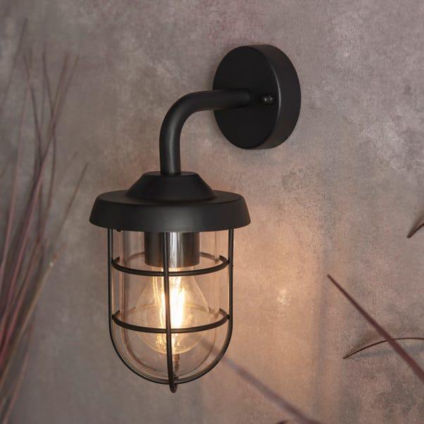 Barker Industrial Outdoor Wall Light Black