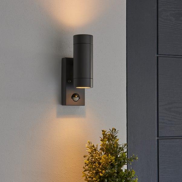 Billy Outdoor PIR Sensor Wall Light Dark Grey
