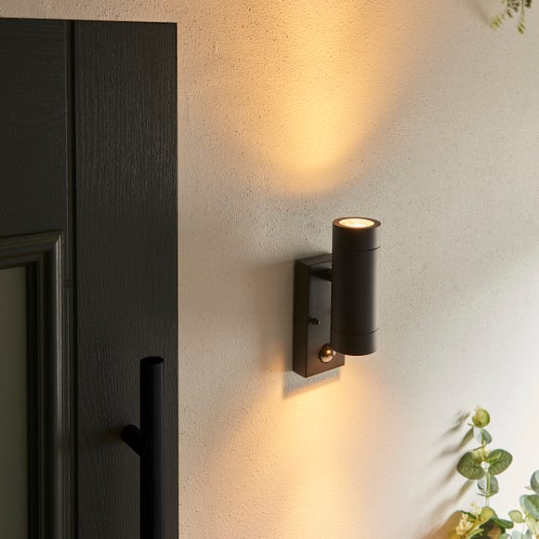 Billy PIR Sensor Outdoor Wall Light  Black