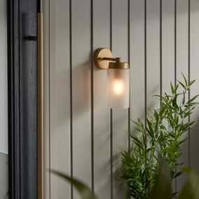 Ellison Gold Effect Outdoor Wall Light