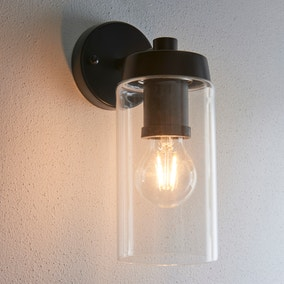 Ellison Matt Black Outdoor Wall Light