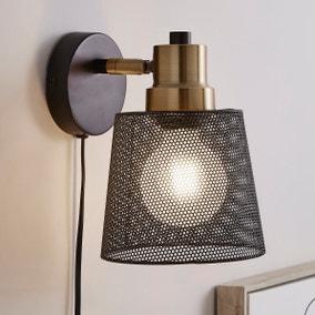 Idris Industrial Easy Fit Wall Light