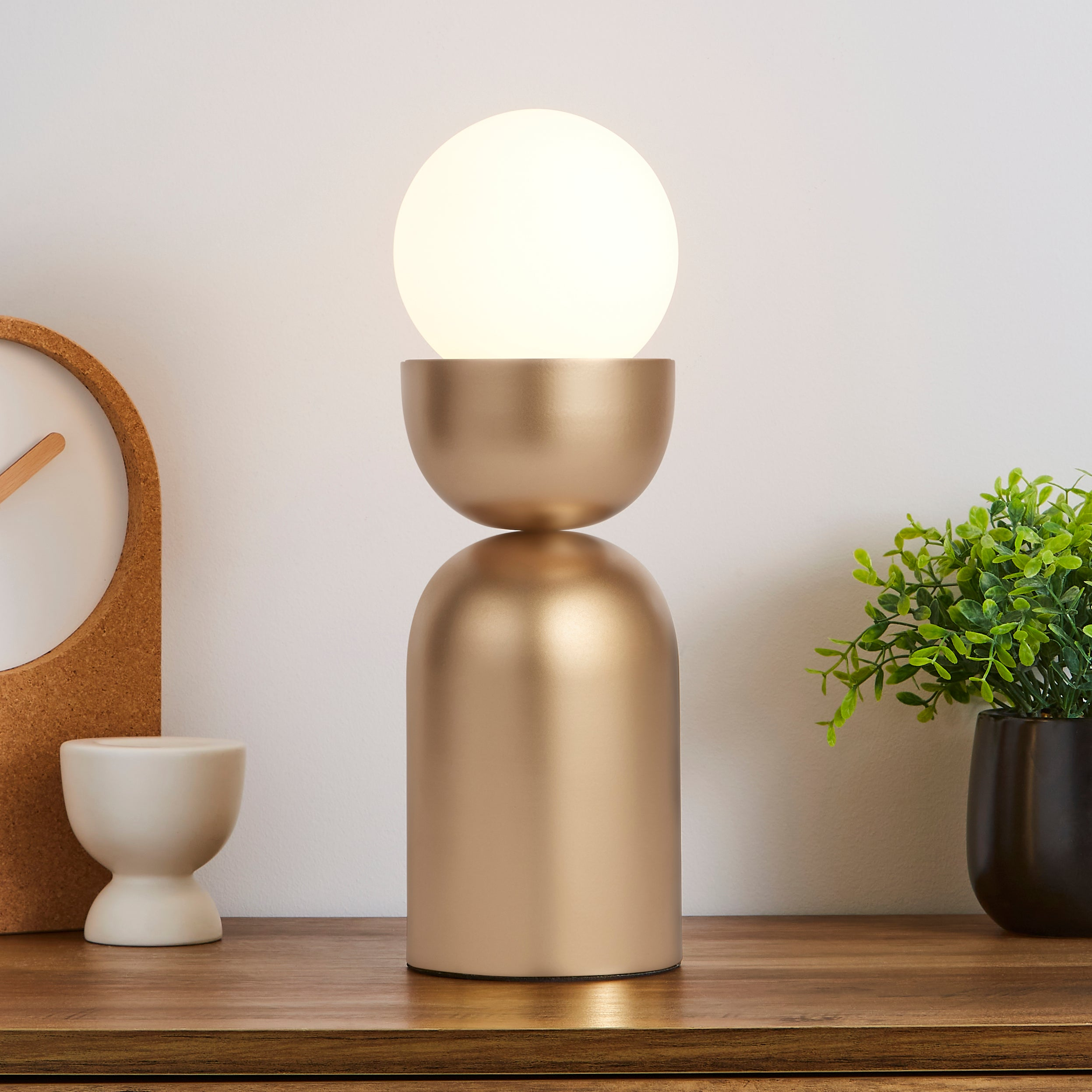 Lunebar Touch Table Lamp Brushed Gold